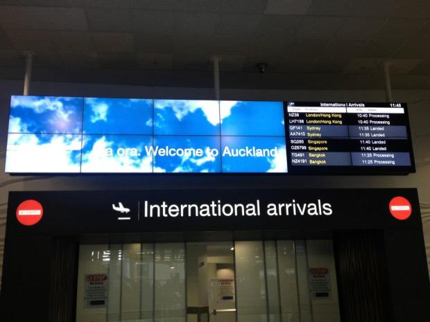 Arrivals at Auckland Airport