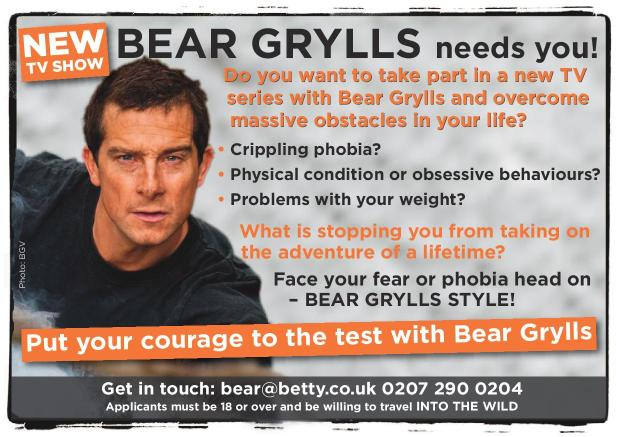Put your courage to the test with Bear Grylls